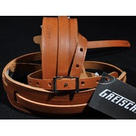 GRETSCH  STRAPS  2- SKINNY  LEATHER NATURAL  NEW