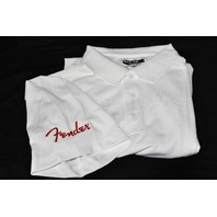 Fender Logo Polo Shirt White Medium
