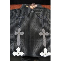 "FENDER CUSTOM SHOP ""DARKNESS"" SS SHIRT BLACK  MEDIUM"