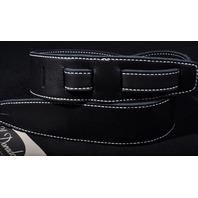 El Dorado Durango Suave Black/Black WhiteThread Guitar Strap