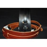 Gretsch  Straps  2-Skinny Leather Black/Walnut  New