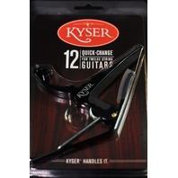 Kyser KG12B 12 String Guitar Capo Black