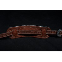 EL DORADO VINTAGE MODEL TOOLED BROWN GUITAR STRAP MED-LG 45''-  51''