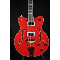 Gretsch G5442BDC Electromatic Hollow Body Short Scale Bass Trans Red