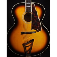 D'angelico DAEX 63SB Sunburst Archtop Acoustic Electric Guitar w/Hardshell