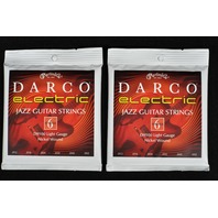 2 Sets Martin Darco D9100 Light Gauge Jazz Electric Guitar Strings Gauges 12-52