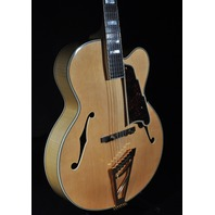 D'angelico DAEXL-1A Natural Hollow Body  Acoustic/Electric Guitar W/Hardshell