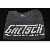 "GRETSCH ""THAT GREAT GRETSCH SOUND"" TEE SHIRT SMALL DARK GRAY"