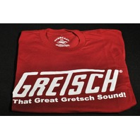 "GRETSCH ""THAT GREAT GRETSCH SOUND"" TEE SHIRT MEDIUM RED"