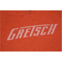 Gretsch Logo Tee Shirt Heathered Orange Medium