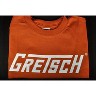 Gretsch T-Roof Logo Tee Shirt Burnt Orange Small