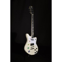 D'angelico Premier Bedford Grateful Dead Solid Body Electric Guitar Antique White