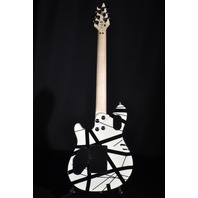 EVH Wolfgang Special Black White Striped Archtop Guitar 2018