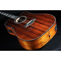 D'angelico Premier Bowery Koa Dreadnought AC/EL Guitar