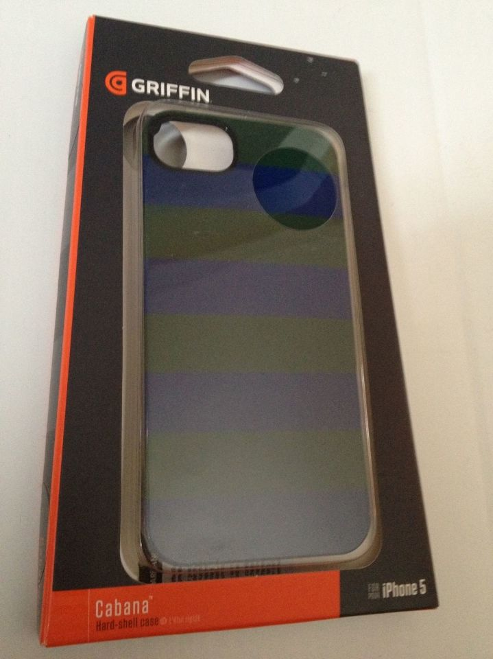 Griffin Blue Green Cabana Hard Shell Case For Iphone 5   5s  95cdea410b