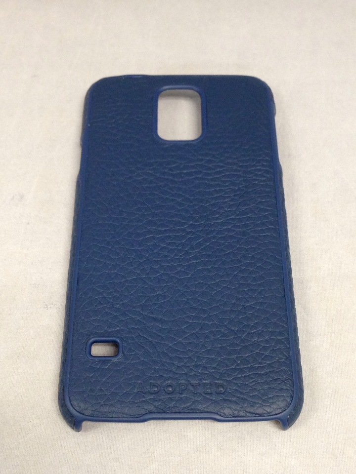 new concept 6d26b 37f99 Adopted Leather Cell Phone Case for Samsung Galaxy S5 - Navy/Deep Navy