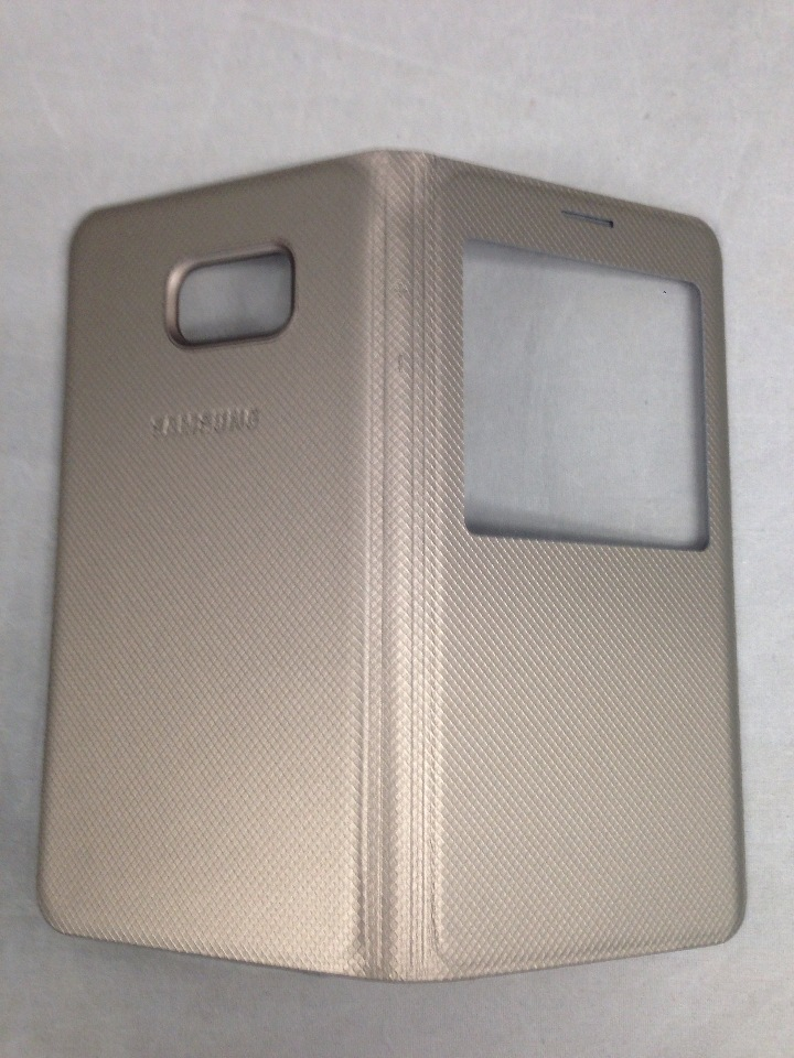 brand new 8ca7a 8547b Genuine Samsung Galaxy S6 edge Plus Case S-View Flip Cover Folio - Gold