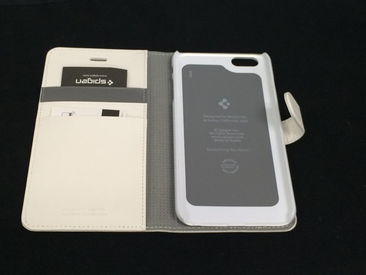 premium selection 3e591 a1d78 Spigen Premium Wallet Case STAND Flip Cover for iPhone 6 6s Plus - White