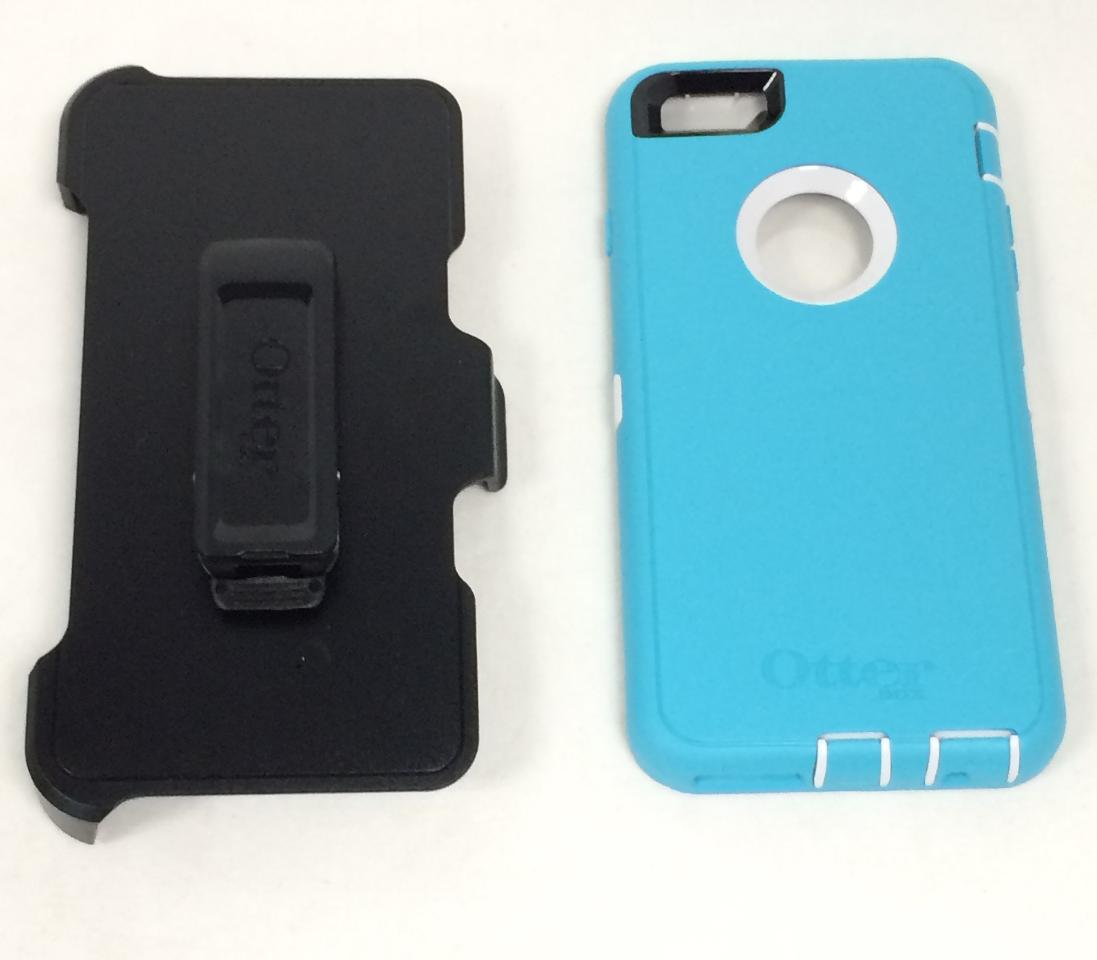OtterBox DEFENDER iPhone 6/6s PLUS Case - SEACREST (WHISPER WHITE/LIGHT  TEAL)