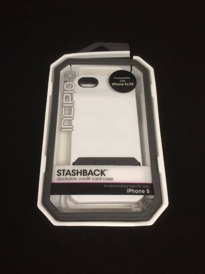 hot sales 73d30 9d2ec Incipio White Stashback Wallet Hard Case Credit Card Id Slot For Apple  iPhone 5
