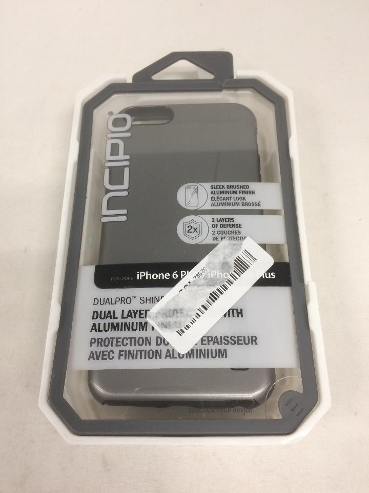 quality design 142ea 4145f Incipio iPhone 6/6s PLUS Case, DualPro SHINE Heavy Duty 2-Piece,  Gunmetal/Black