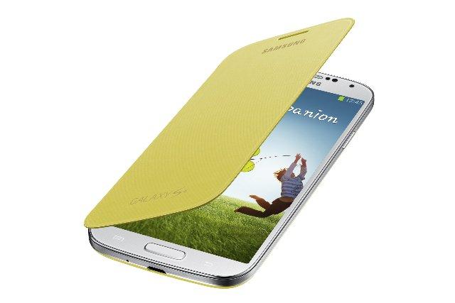 Samsung Galaxy S4 Flip Cover Folio Case (Yellow)