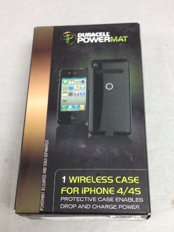 Duracell Powermat Rca4b1 Wireless Case For iPhone 4/4s - Black