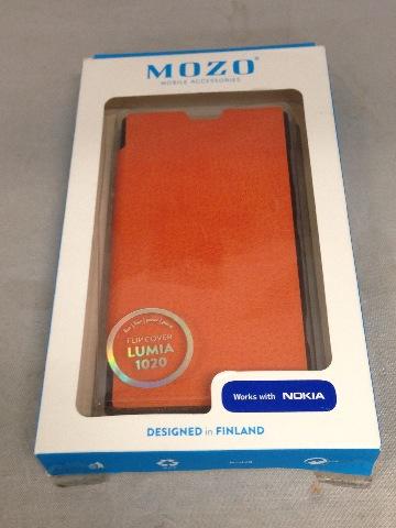Mozo Flip Cover for Nokia Lumia 1020 (Orange)