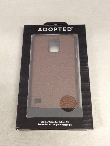 Adopted Leather Cell Phone Case for Samsung Galaxy S5 - Sumatra/Root