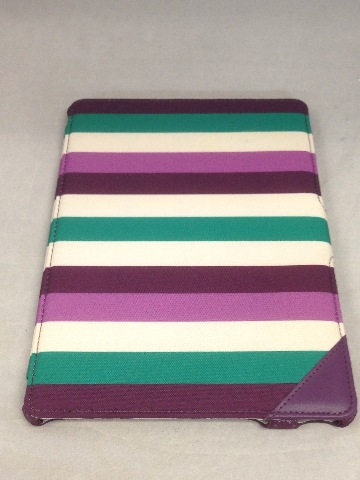 Griffin Journal Protective Cover For Apple iPad Air - Purple And Green Stripes