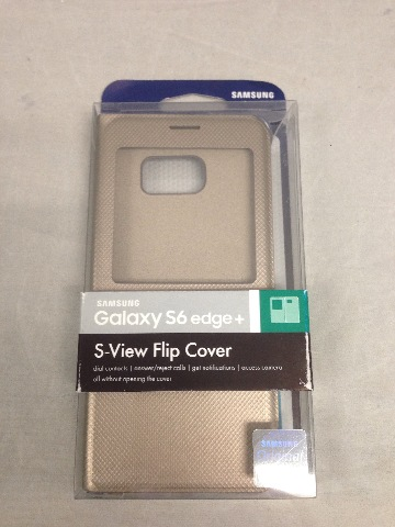 Genuine Samsung Galaxy S6 edge Plus Case S-View Flip Cover Folio - Gold