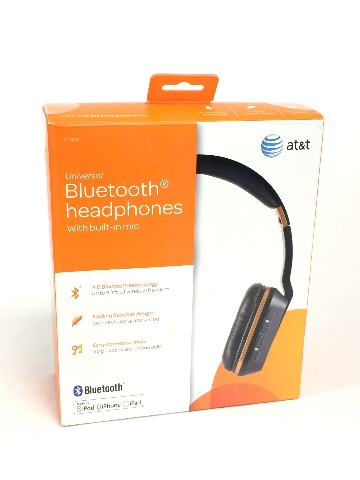 AT&T BTH20 Wireless/Wired On-Ear Headphones with Bluetooth Technology, Black