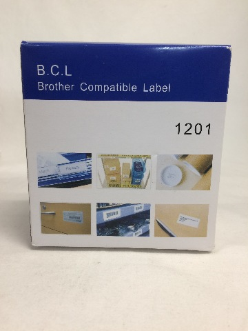 "Brother DK-1201 Compatible 1-1/7"" x 3-1/2"" White Labels"