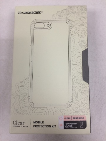 iPhone 7 PLUS SaharaCase, Clear Rose Gold, Tempered Glass Screen Protector