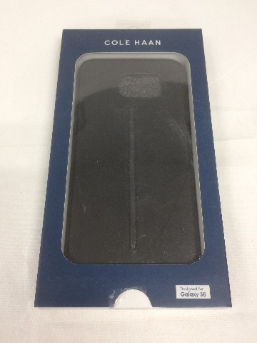 COLE HAAN Leather Case for Samsung Galaxy S6 CHRM71014 Dark Roast Black