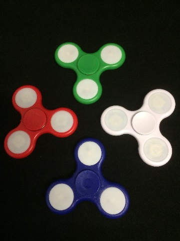 LED Fidget Spinner - Multiple flashing combinations for cool effects! CAN Ship