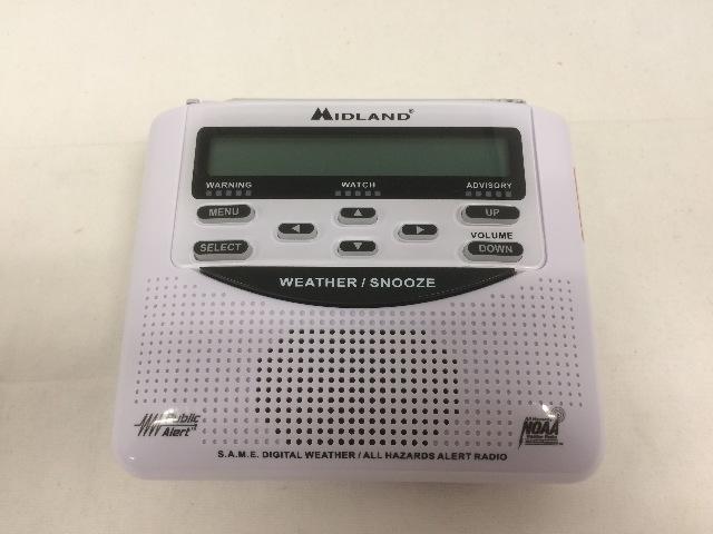 Midland Radio WR120B Clock Weather Alert Hazard Public Alert Certified Tornado