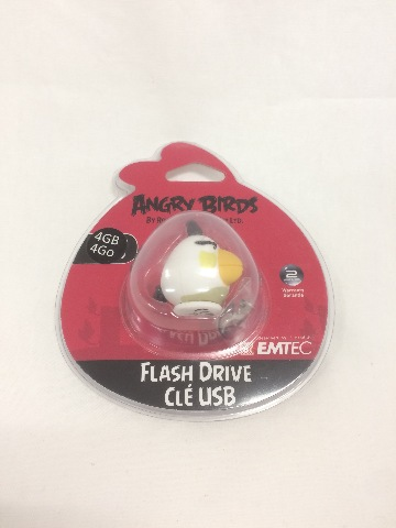 EMTEC Angry Birds 4 GB USB 2.0 Flash Drive, White Bird