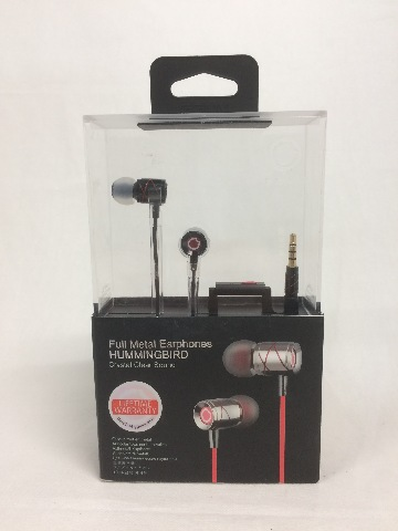 GGMM Hummingbird Crystal Clear Sound In-Ear Noise-Isolating Headphone, Mic, Blk