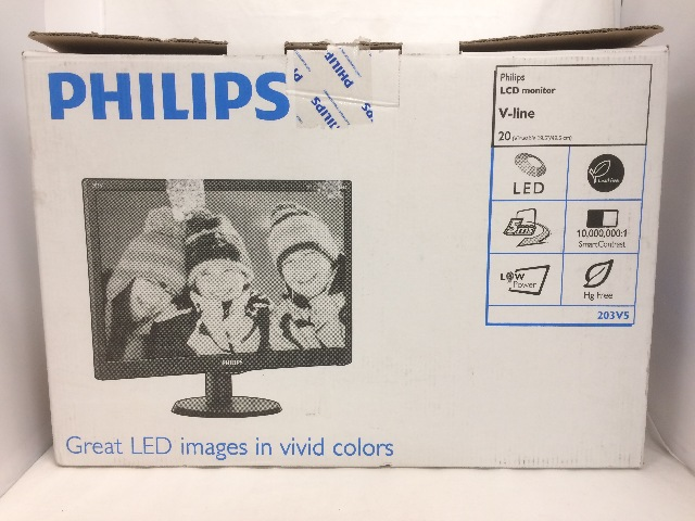 Philips 20 in LCD Monitor 203V5 - VGA input with tilt control - 1600 x 900