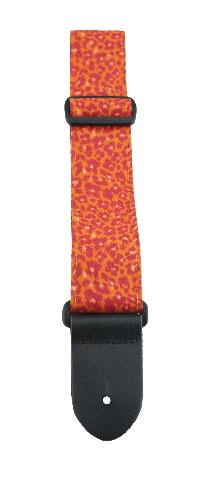 Perris Leathers FWS20-1661 2-Inch Designer Fabric Strap, Orange Animal