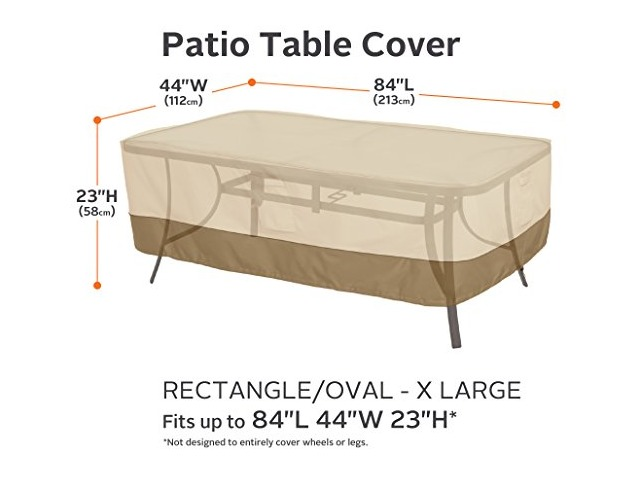 Sensational Xl Classic Veranda Rectangular Oval Patio Table Cover Download Free Architecture Designs Scobabritishbridgeorg