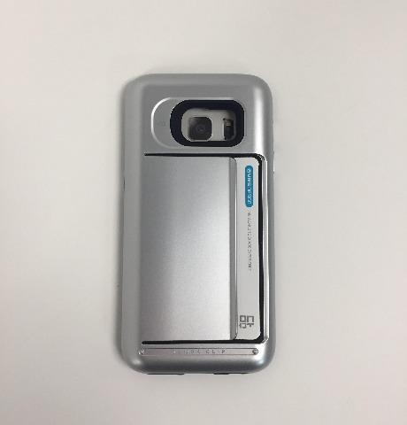 Galaxy S7 Case, VRS Design Damda Clip Satin Silver-Wallet Card Slot