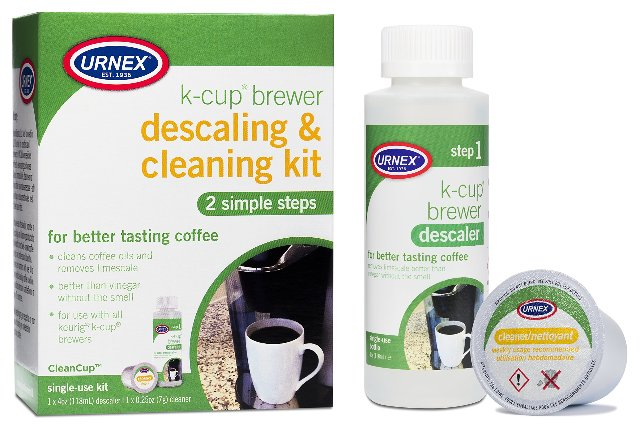 Urnex K-Cup Descaler and Cleaner - Simple 2 Step Coffee Maker Cleaning System