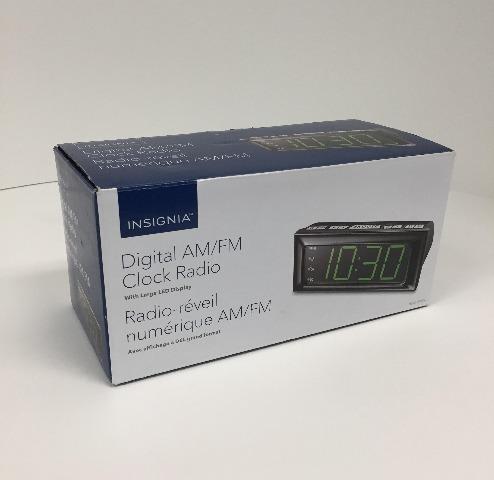 Insignia Digital Am/fm Clock Radio W/ Large Led Display - NSCLOPP2C