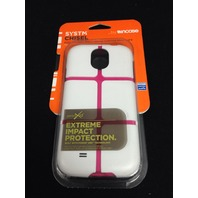 Systm Chisel Case for Samsung Galaxy S4 - Retail Packaging - White/Pink