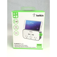 Belkin 3-Outlet Wall Mount Cradle with Dual 2.4 AMP Charging, BSV300ttCW