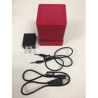 Bem HL2750C Wireless Bluetooth Mojo II Speaker True Stereo Sound - Red/Single