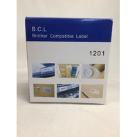 """Brother DK-1201 Compatible 1-1/7"""" x 3-1/2"""" White Labels"""