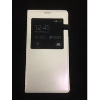 Samsung Galaxy S5 Case S View Flip Cover Folio, White